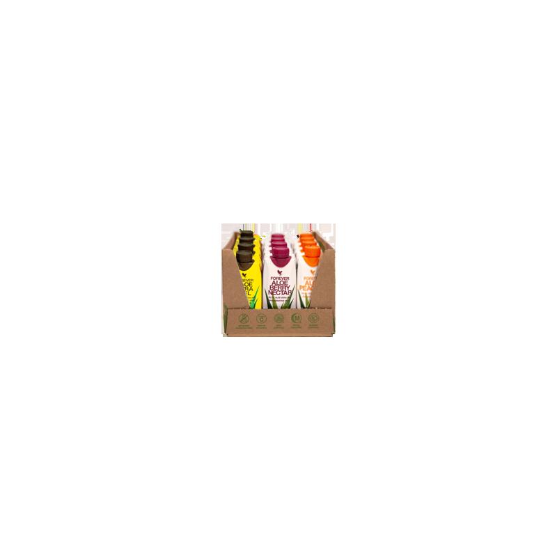 12-pak Forever Aloe Vera Gel Mini - 3 smaki